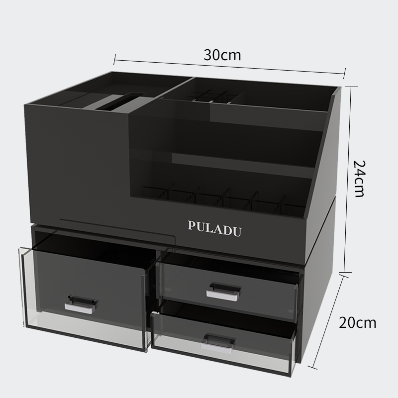 Dresser Cosmetics Storage Box Acrylic Skin Care Product Shelf Multi-functional Finishing Box Set Combination Of European Style