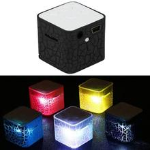 Bluetooth Speaker MP3 LED Nightlight Player Mp3 Music Sound Colorful Light Water Cube For Dropshipping Hot Saling !!!