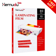 A4 80mic Thermal Laminating Film PET+EVA for Business Card Strong Adhesive Plastifieuse 10 sheets