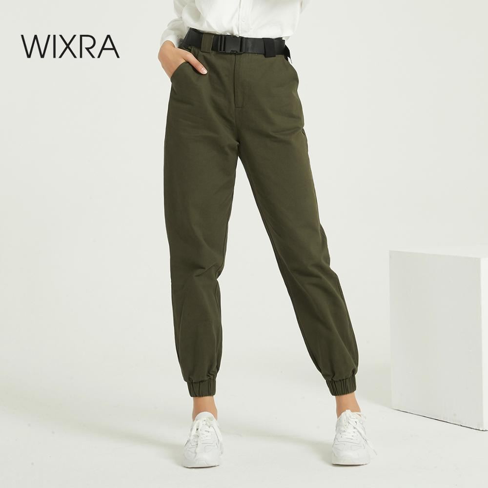 Wixra Women New Cool Cargo Casual Women's Pants High Waist Hip Hop Pockets Casual Ladies Trousers Spring Autumn