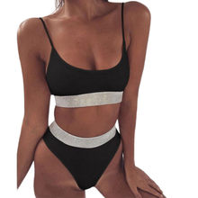Solid Bikini Sets Swimming Suit For Women Fashion Female Biquini Plus Size XL Swimsuit Two-Piece Swimwear Bathing Suit(China)