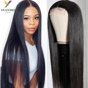 30Inches Long Straight Human Hair Wig 4X4 Human Hair Lace Front Wig Density 150% Lace Closure Wig Transparent Lace Wig