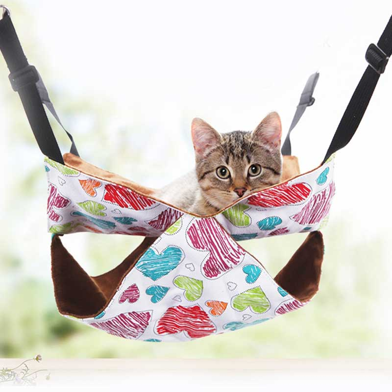Cat Hammock Canvas Four Seasons Universal Washable Hanging Cat Nest Pet Cat Hammock Comfortable Cat Pet Bed Shelf Seat