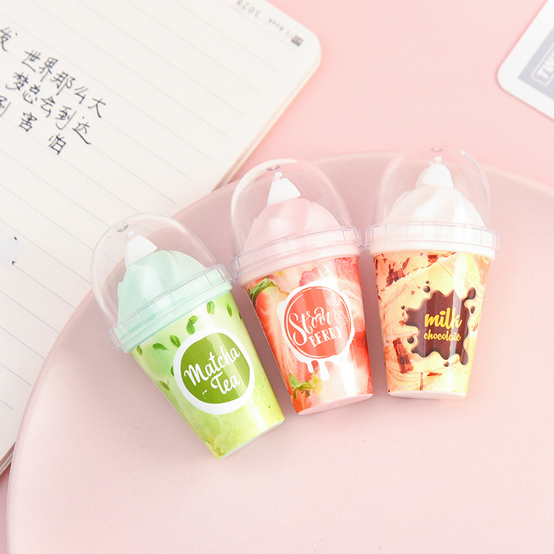 Milk Tea Chocolate Cup Novelty White Out Corrector Correction Tape Gift Stationery Student Prize School Office Supply
