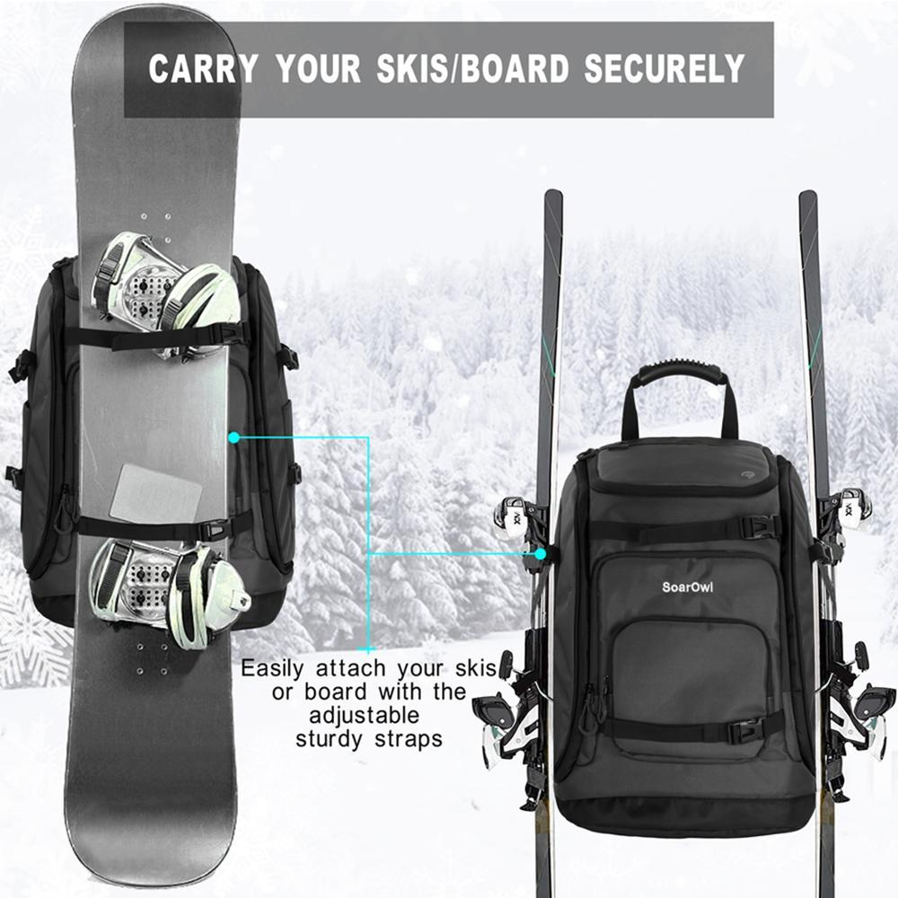 50L Ski Bag Waterproof Thickened Large Capacity Ski Boot Bag Can Put Ski Helmets, Goggles, Clothing, Etc. Can Hang Skis