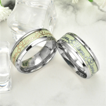 New Luminous Man Ring Lover Rings Gold Silver Love Women Glow in the Dark  Engagement Fashion Charm Jewelry