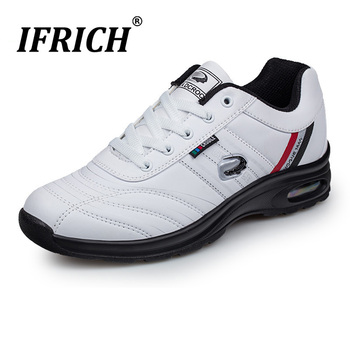 Men's Running Shoes Sport Athletic Sneakers Man Walking Gym Shoes Waterproof Leather Brand Cushion Training Tennis Golf Sneakers