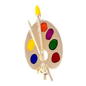 Fashion Brooch Colorful Enamel Artist Decorative Palette Badge Unisex Costume Sweater Bag Lapel Pins Gift