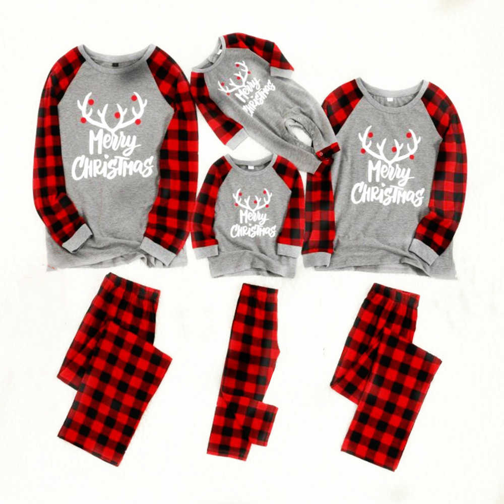 Family Christmas Pajamas Set Cotton New Christmas pajamas pyjamas kids Sleepwear Family Outfits men pajamas set pyjamas women