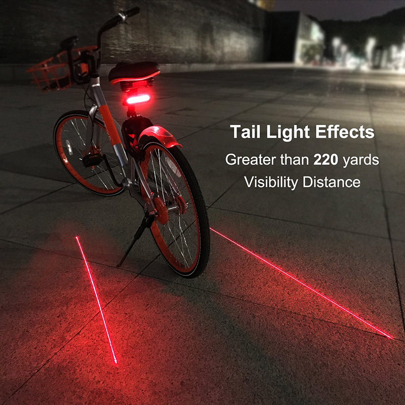 Mountain Bike Remote Control Taillights Laser Steering Safety X5 Taillights