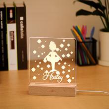 Изготовленный На Заказ Танцы девушка ночной Светильник деревянная
