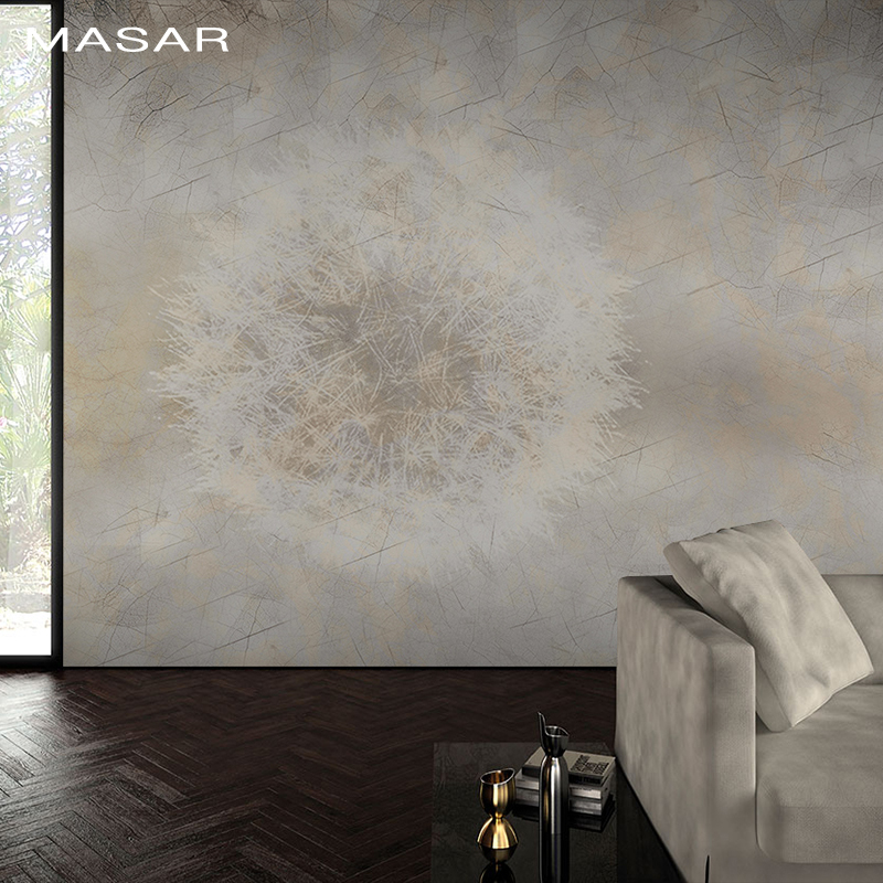 MASAR Nature Plant 3D HD Mural Living Room Living Room Living Room Background Wall Solid Color Wallpaper Dandelion