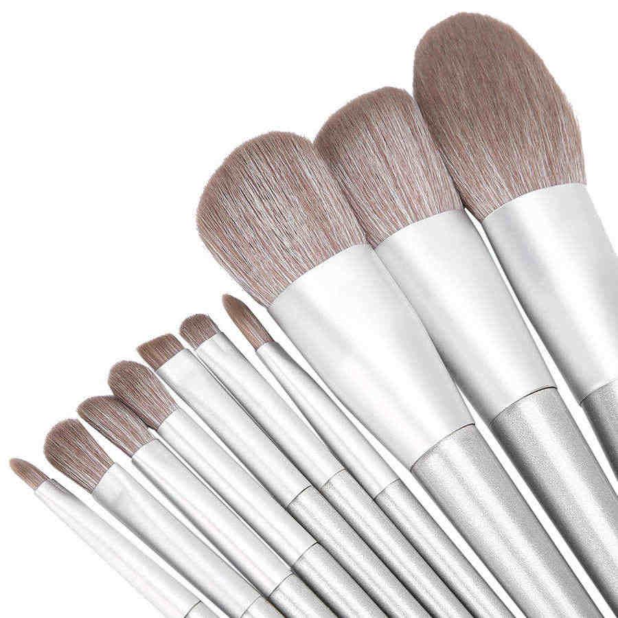 Кисти для макияжа глаз, косметические кисти, 10 шт./компл., тени для век, свободная пудра, кисть для бровей, косметические кисти, инструмент для макияжа (hxt045)
