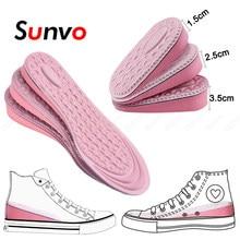 Eva memória espuma invisível altura aumentada palmilhas para mulher sapatos interior sola sapato inserção elevador calcanhar conforto aumentando palmilhas