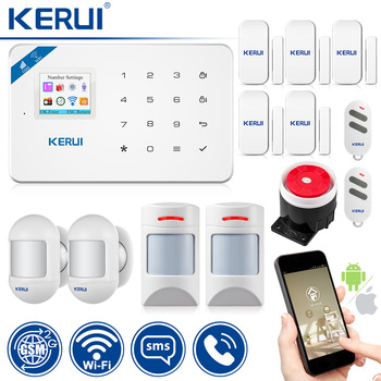 Original KERUI WI8 Pet Immune PIR Detector Smart WIFI GSM Burglar Security Alarm System  IOS/Android APP Control Home 1