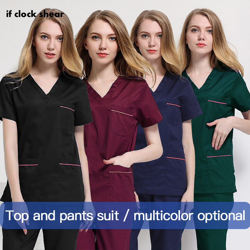 Pharmacist Work Uniforms Short-sleeved Medical Suits Nursing Shirt Dental Clinic Tops/Suits Summer Doctor Costume Women Clothes
