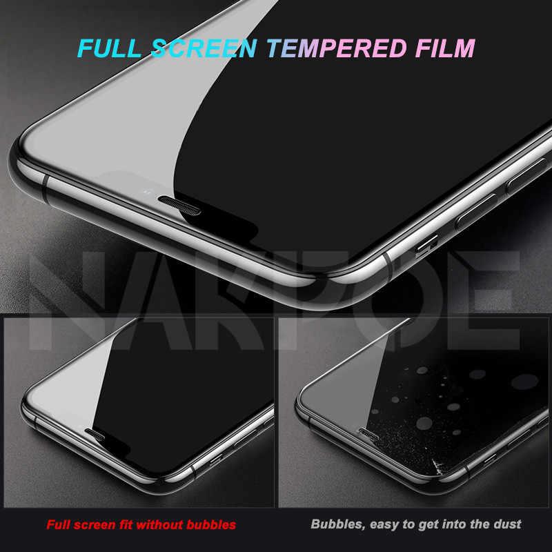 واقي للشاشة 100 d من الزجاج المقسى على آيفون 6 6s 7 8 Plus واقي للشاشة الزجاجية لهاتف آيفون X XR XS MAX 11 Pro Max Glass