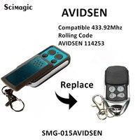 AVIDSEN 114253 control remoto abridor de puerta de garaje 433mhz mando a distancia de código de rodamiento inalámbrico para parada de garaje 433 92 mhz Mando a distancia de puerta    -