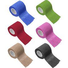 Multi-tamanho esportes autoadesivo elástico bandagem colorido esporte fita elastoplast para dedo tornozelo apoio almofadas de primeiros socorros kit