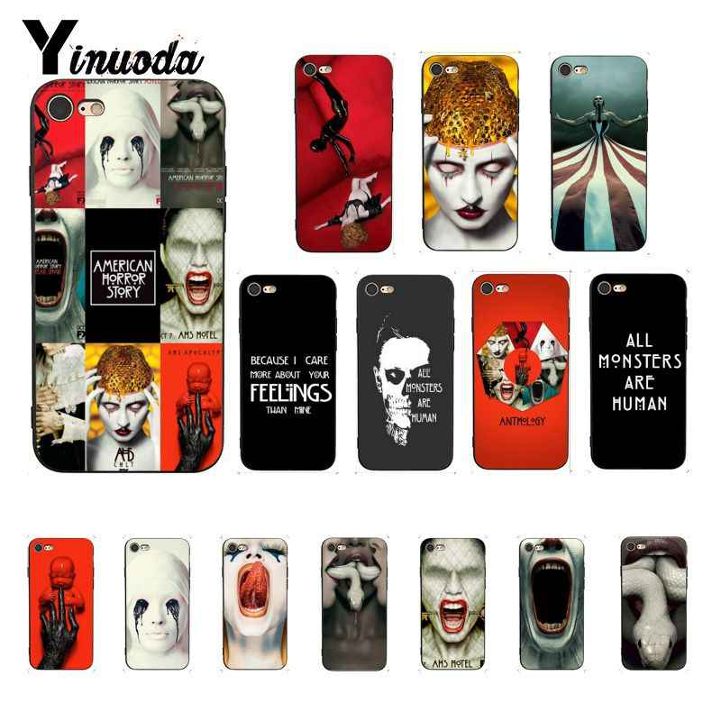 Yinuoda TV American Horror Story Hard Black Soft Shell Telefoon Case voor iPhone 8 7 6 6S X XS MAX 5 5S SE XR 11 Pro Max
