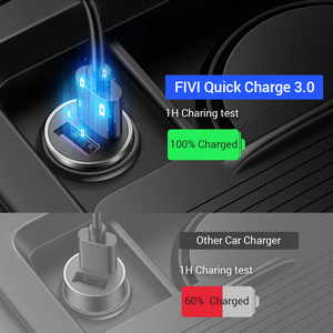 Image 2 - Fivi デュアル usb 高速車の充電器すべての金属車の充電器 pd qc 3.0 ミニ自動車電話充電器 iphone 11 プロサムスン huawei xiaomi