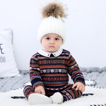 Baby Sweater Rompers Boys Autumn Clothes Long Sleeve for Newborns Winter Jumpsuit Clothing