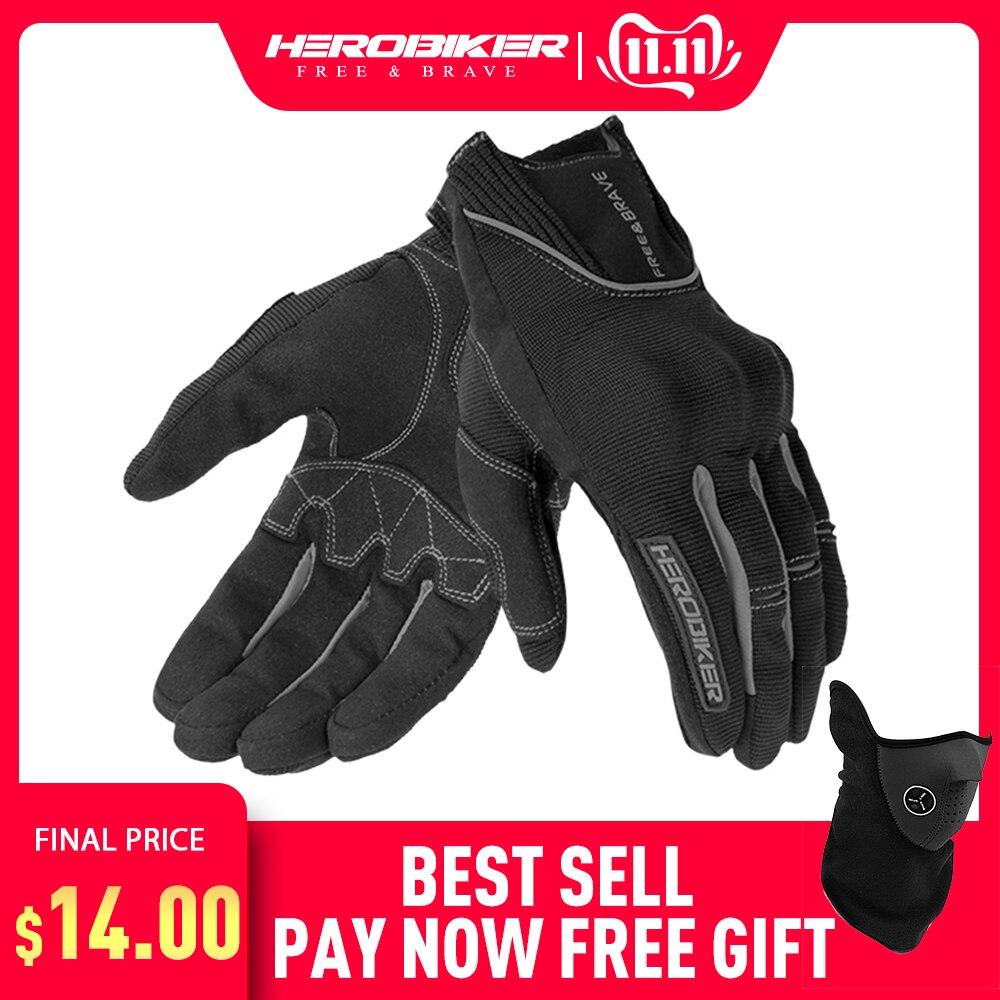 Herobiker luvas da motocicleta fora da estrada equitação luva motociclista guantes moto motociclista tela sensível ao toque luvas de motocross moto