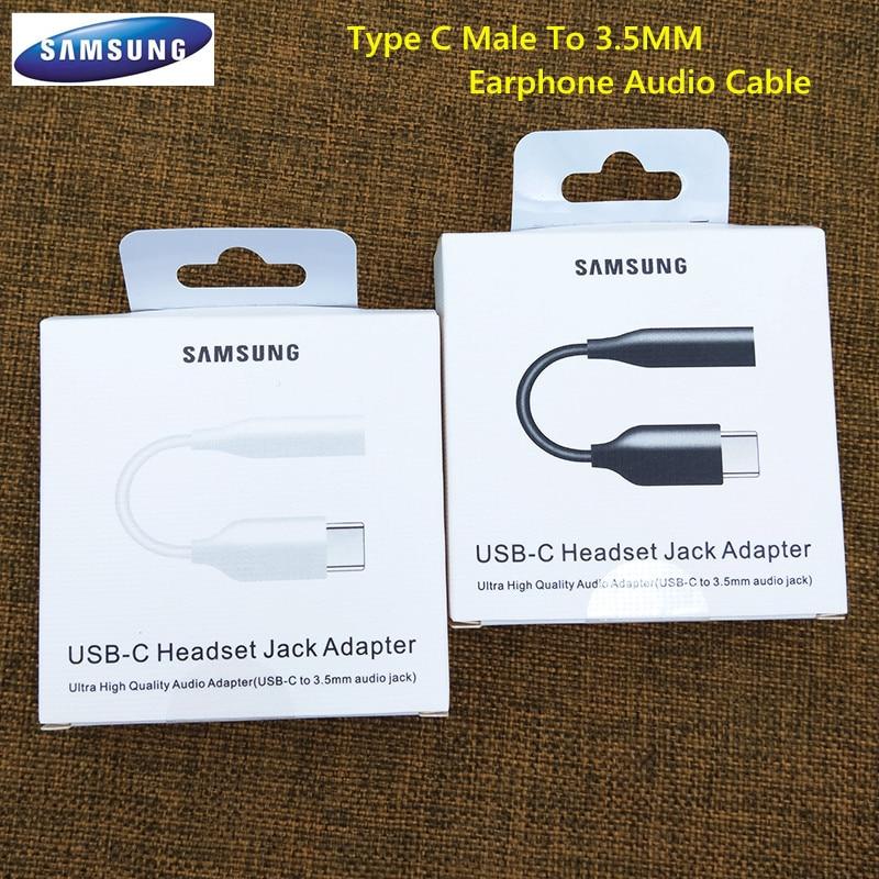 Оригинальный аудиокабель для наушников Samsung с разъемом USB Type-C 3,5 мм для Galaxy S20 + S20 Ultra A60 A80 A90 Note10 Pro/10 +