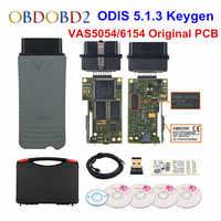 Original VAS5054 OKI Keygen VAS5054A Bluetooth AMB2300 ODIS V5.1.3 V/AUDI/SKODA/asiento VAS 5054A VAS6154 WIFI UDS para VAG