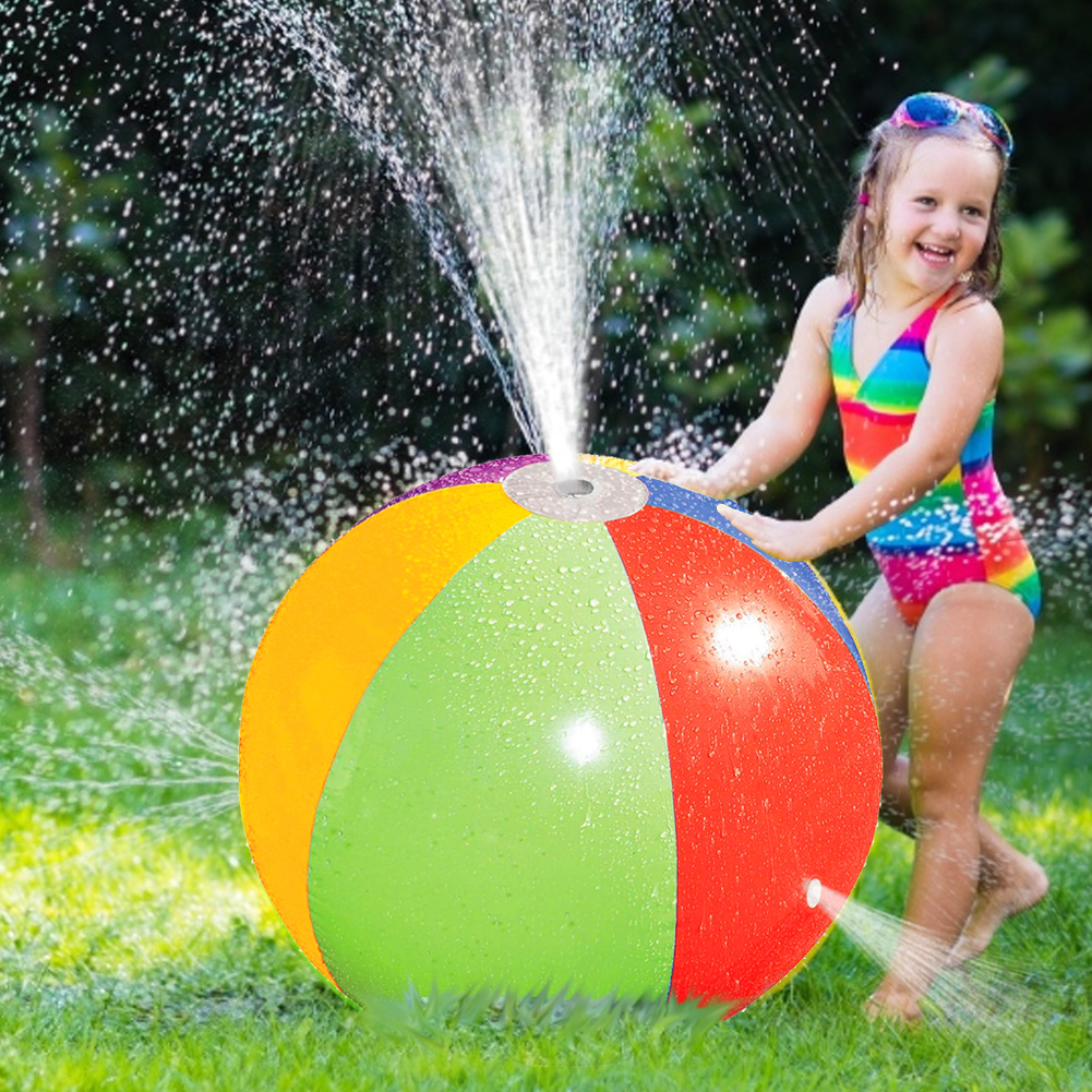 Hot Summer Inflatable Spray Water Ball Beach Ball Sprinkler Water Toy For Children Outdoor Swimming Beach Pool Play Lawn Ball