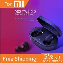 A6S TWS Wireless Earbuds Stereo Mini Bluetooth Earphone air 5.0 dots With Dual Mic Sports Earphones