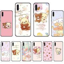 Cute cartoon cinnamoroll Rilakkuma Black TPU Soft Phone Case