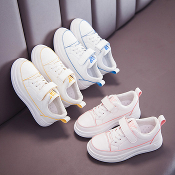Childrens Lightweight Leather Trainers