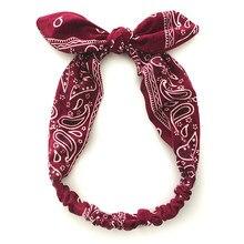 Bandeau cheveux rétro pour femmes, imprimé, accessoires, serre-tête, couvre-chef d'été