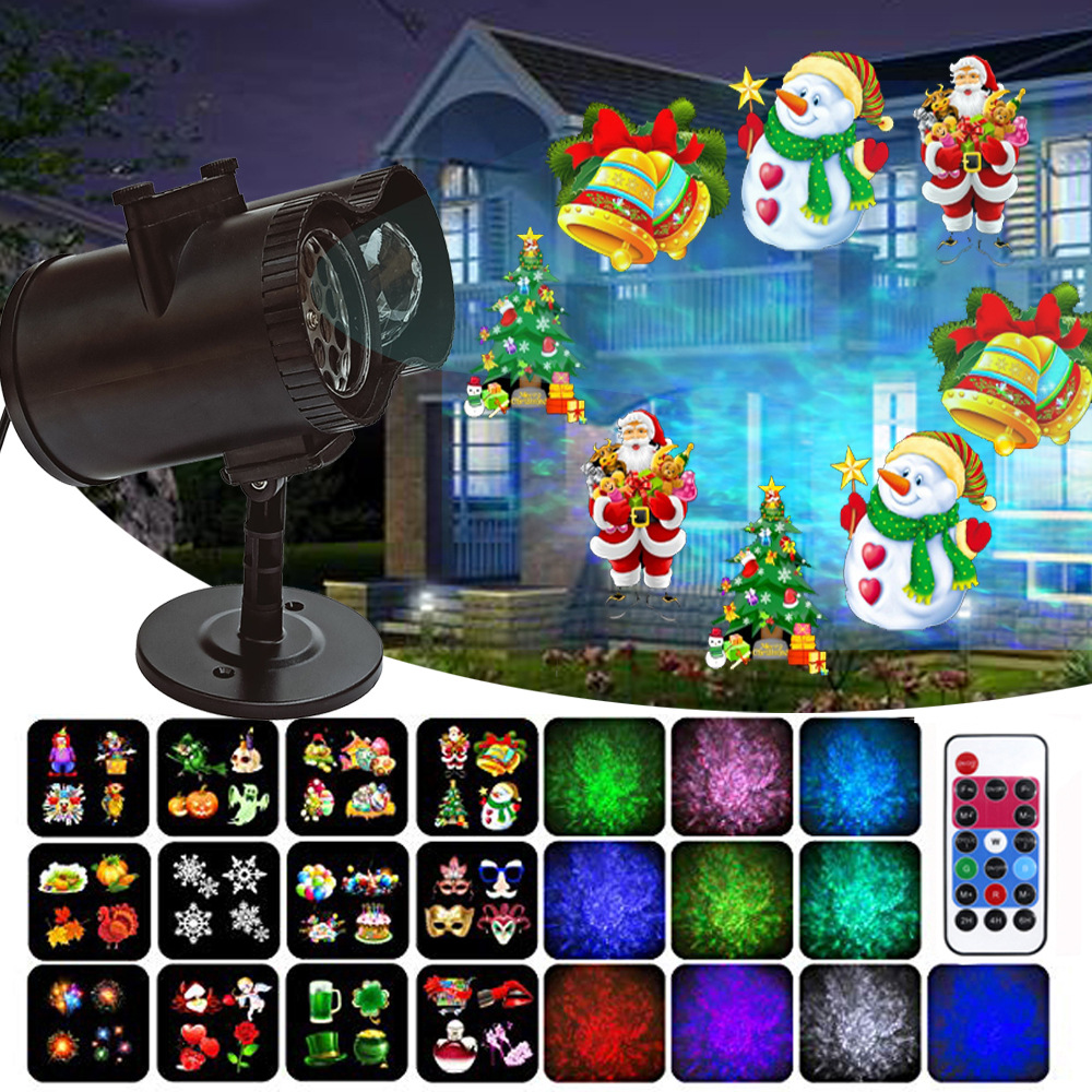 LED Stage Light RGB Laser Scanner DJ Disco Laser Projector Illumination Show Light With Remote For Christmas Bar Club Party