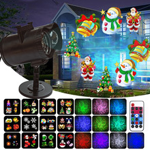 LED Stage Light RGB Laser Scanner DJ Disco Projector illumination Show with Remote for Christmas Bar Club Party