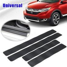 цена на 4PCS Car Stickers Universal Sill Scuff Anti Scratch 3D Carbon Fiber Protect Auto Door Sticker Decals Car Accessories Car-styling