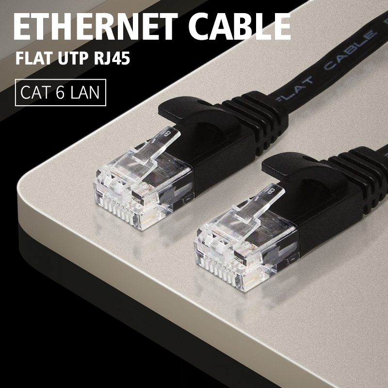 Cables Sale 50cm//1M//2M//5M//8M//10M//15M//20M CAT7E Ethernet Internet Network LAN Flat Cable Cord Cable Length: 3m, Color: Blue Black