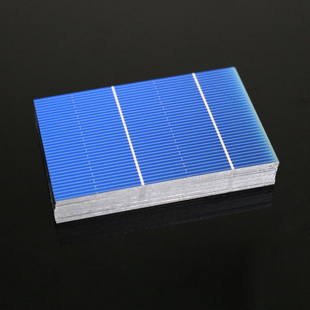 50 unids/lote x Panel de células solares DIY cargador de silicio policristalino Sunpower paneles solares Bord 52 78 156 125 5 6 pulgadas