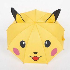 Высокое качество, детский желтый складной зонтик с изображением Пикачу из мультфильма Покемон го, большой подарок