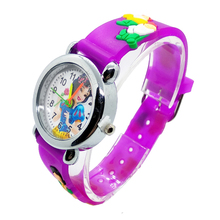 2020 Fashion Soft Silicone Waterproof Kids Watches Children Girl Princess