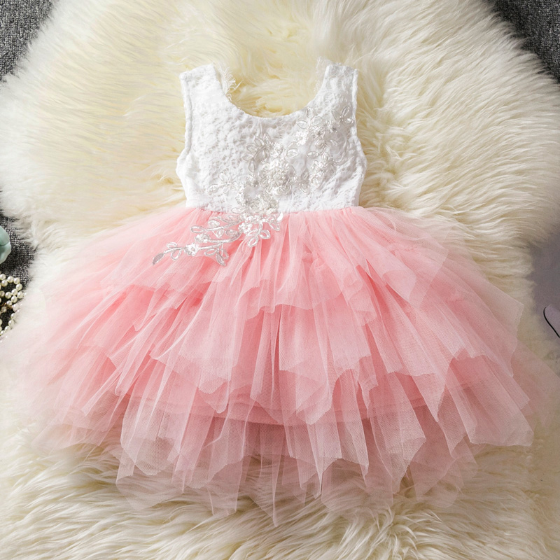H1a7ca4d9ad784993b510bfdfadf9c6d8y Princess Kids Baby Fancy Wedding Dress Sequins Formal Party Dress For Girl Tutu Kids Clothes Children Backless Designs Dresses