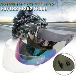 Kask motocyklowy całą twarz kask motocyklowy Visor dla LS2 FF352 FF351 FF369 FF384 gogle kask fullface soczewki narzędzia w Kaski od Samochody i motocykle na