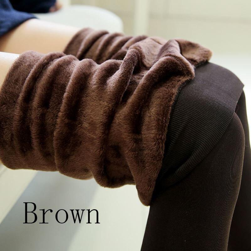 Новые модные женские осенне-зимние штаны высокого эластичности и хорошего качества, плотные бархатные штаны, новые теплые леггинсы Rooftrellen - Цвет: 88 coffee