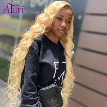 10a Grade HD Transparent Lace Wigs Honey 613 Lace Front Wig Body Wave Lace Front Wigs Malaysian Virgin Hair Lace Frontal Wigs image