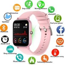 LIGE ساعة رياضية متصلة ، شاشة تعمل باللمس ، للرجال والنساء ، مستشعر النشاط البدني مع مراقبة معدل ضربات القلب ، مقاومة للماء ، جديد لعام 2021