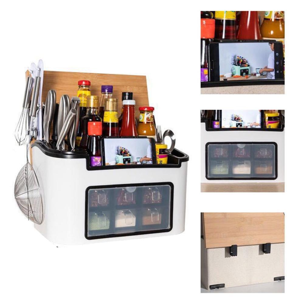 406.14руб. 27% СКИДКА|Многофункциональная al кухонная стойка стильная многофункциональная кухонная стойка коробка для приправ и специй банка для хранения бутылок|Полки и держатели| |  - AliExpress