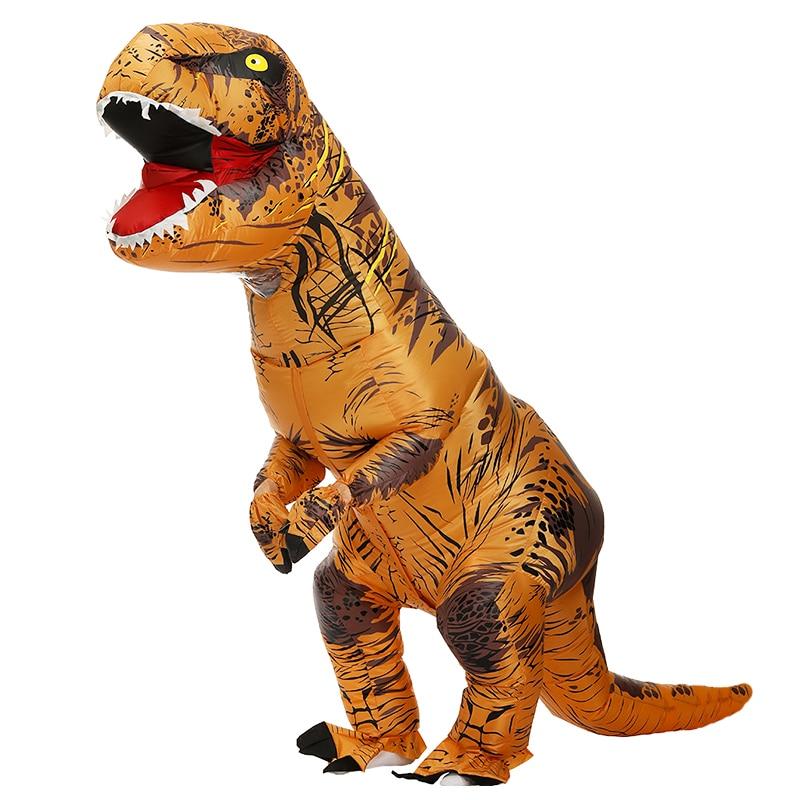 Dinosaur Inflatable Costume T-Rex Fancy Dress Halloween Blow up Suit Adult Kids