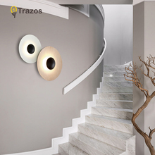 2019 Modern LED Wall Lamp With Metal Lampshade For Bedroom Stairs Reading Wall Sconce Adjustable Bedside Lighting Fixtures