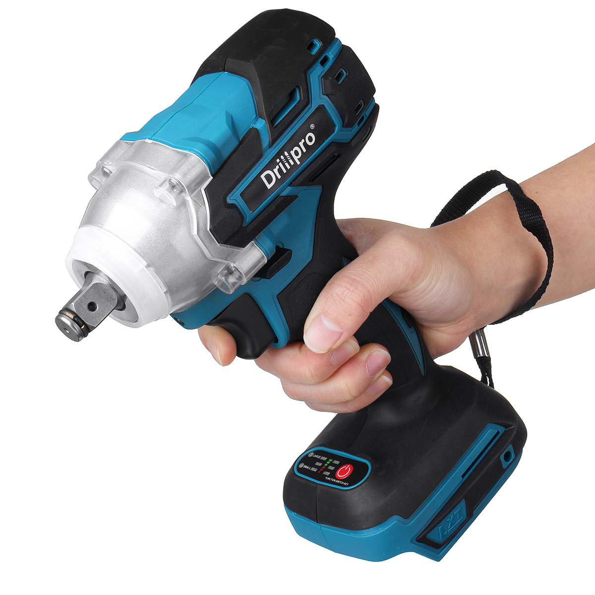 18V 280N m Cordless Impact Wrench Driver Brushless Motor 1 2inch Square Electric Wrench With LED Light Adapted To Makita DTW285Z